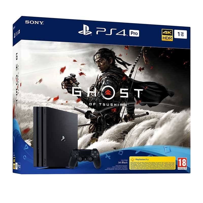 Pack console PS4 1 à PRO Ghost Of Tsushima