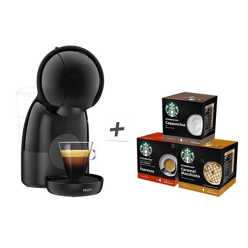 Expresso à Dosettes Krups Yy4496fd Piccolo Xs + 3 Boites Starbucks