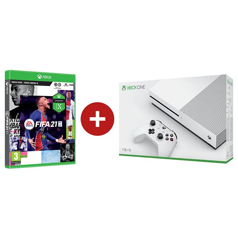 Pack Console Xbox One S 1to + Fifa21 (photo)