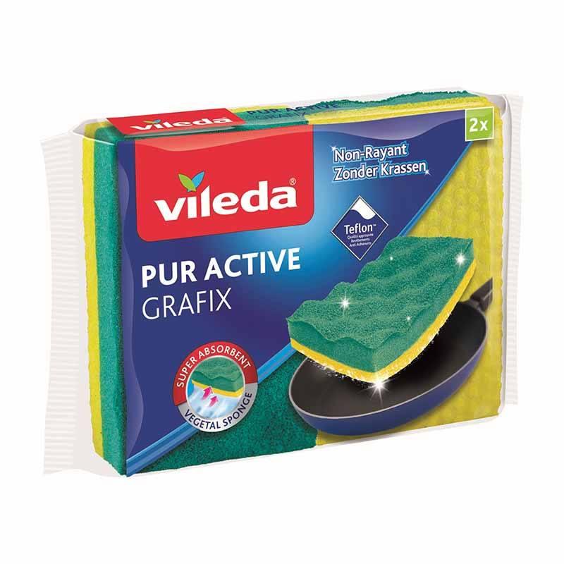 2 éponges Vileda Pur Active Grafix (photo)