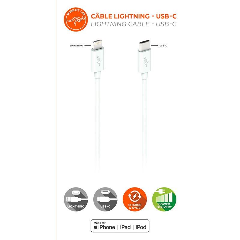 CÂble Synchro/charge Mobility Lab Lightning - Usb-c