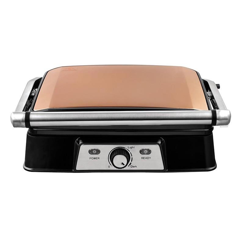 Grille-viande Kalorik 2000w Cuivre Ouverture 180° (photo)