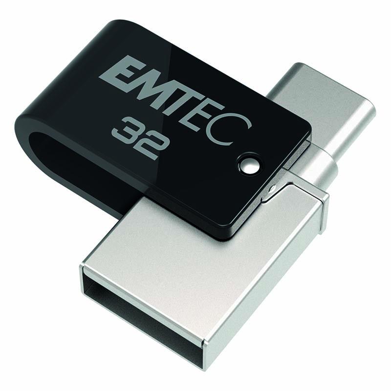 Clé Usb Emtec 32go - 2 Ports Usb3.2 + Usb-c