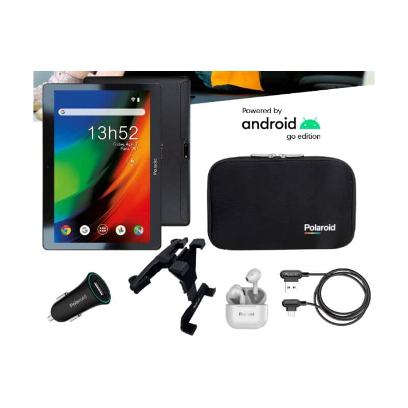 Tablette Polaroid Mobility 3g 2021 Vacances - Support Voiture + Allume Cigare + Autres Access