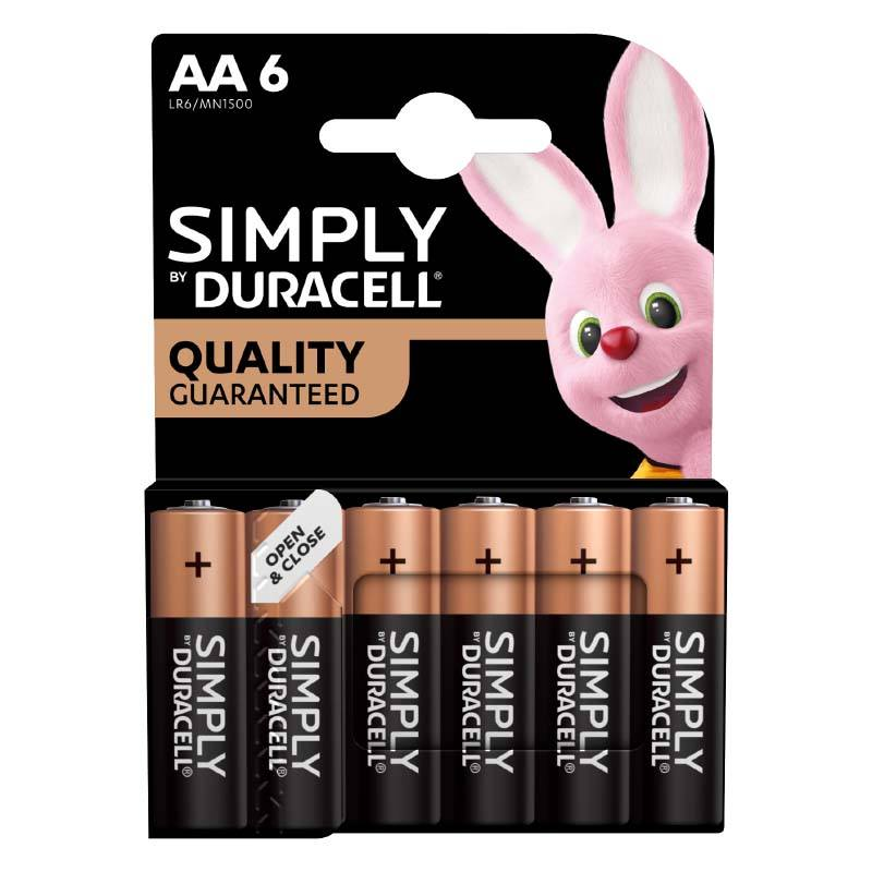 Piles Duracell Simply Aa - Lr06 X6