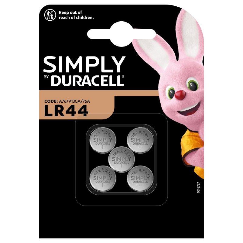 Piles Duracell Simply Lr44 X 5
