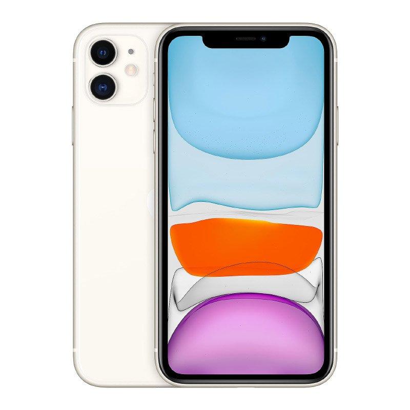 Apple Iphone 11 64 Go Blanc ReconditionnÉ Grade Ec0 + Coque & Verre Trempe