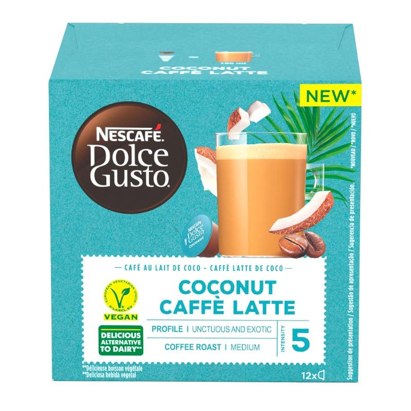 Dosettes Café Dolce Gusto Caffe Latte Coconut