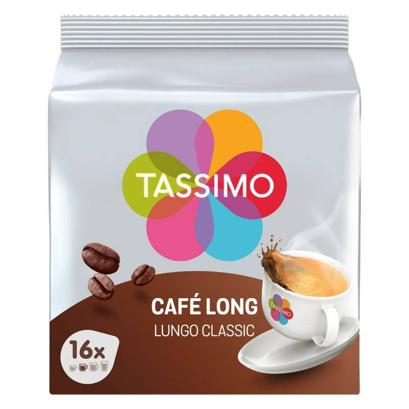 Dosettes Café Tassimo X16 Café Long Classique
