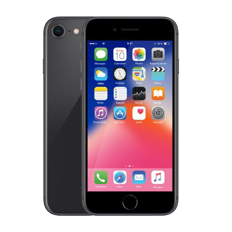 Apple Iphone 8 64 Go Sideral Grey ReconditionnÉ Grade Eco + Coque