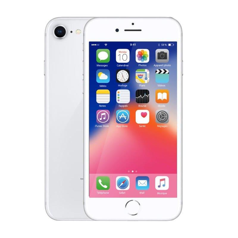 Apple Iphone 8 64 Go Silver ReconditionnÉ Grade Eco + Coque