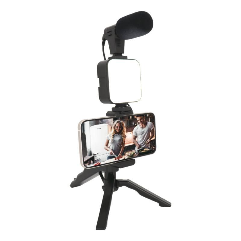 Kit Vlogger- Trepied Micro Et Flash Pour Telephone