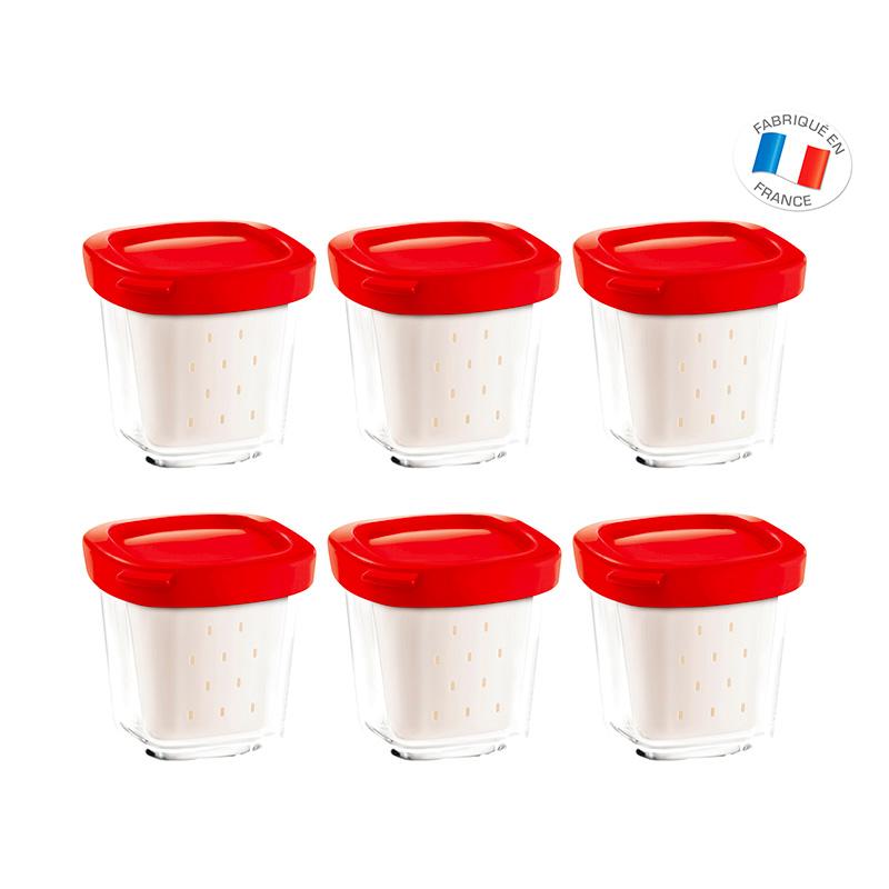 6 Pots Verre Multi Delices Xf100501