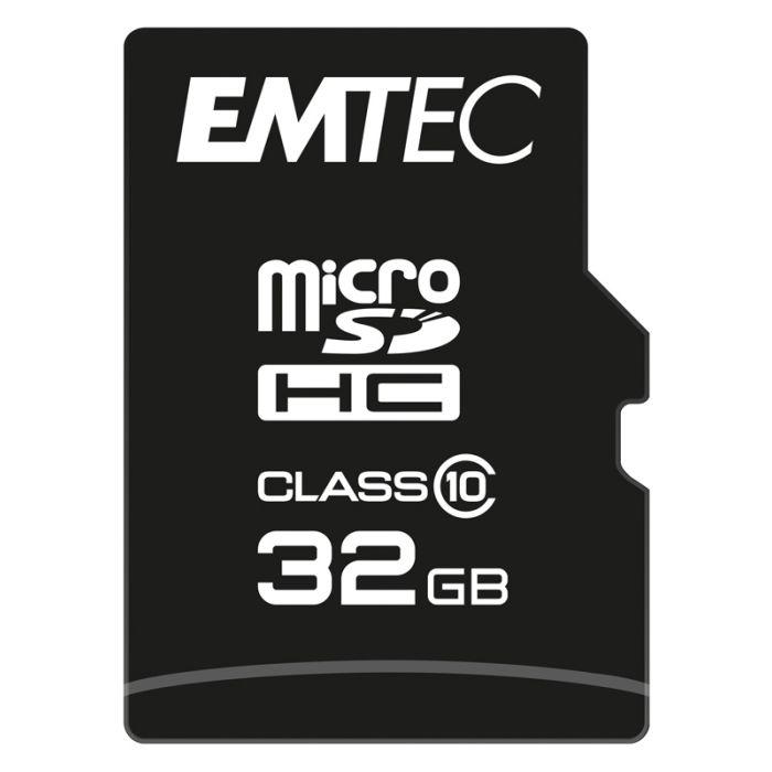 Carte Micro SD EMTEC 32 Go class 10 - Electro Dépôt