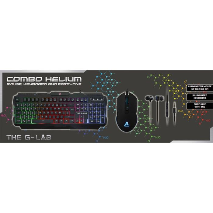 Pack gaming THE G LAB Combo Helium