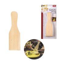 6 spatules bois pour raclette