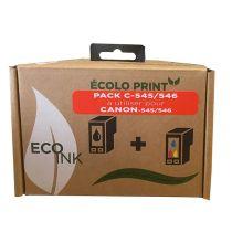KIT de remplissage C545/546 Eco INK Pour CANON NOIR + COULEURS