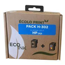 Kit de remplissage  H302 Eco INK Pour HP NOIR + COULEURS