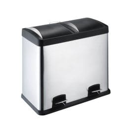 Poubelle Inox Tri Selectif 2x30l Electro Depot