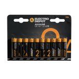 Pile ELECTRO DÉPÔT Alkaline AA- LR6 x 10
