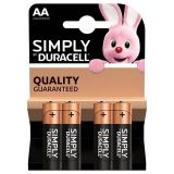 Pile DURACELL Simply AA X4
