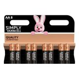 Pile DURACELL Simply AA X8