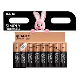 Pile DURACELL Simply AA X16