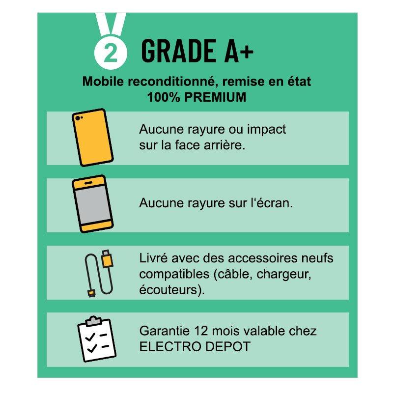 Smartphone SAMSUNG GALAXY S8 64 Go argent reconditionne GRADE A+ (photo)