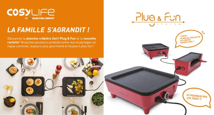 Cosylife by electro d p t nos produits pour votre petit d jeuner pr paration culinaire pas - Plancha electro depot ...