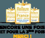 Elu meilleure chaine de magasin de France pour la 3éme fois