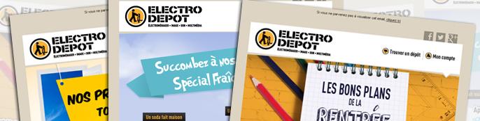Inscrivez-vous à la newsletter Electro Depot