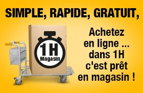 Retrait 1h en magasin