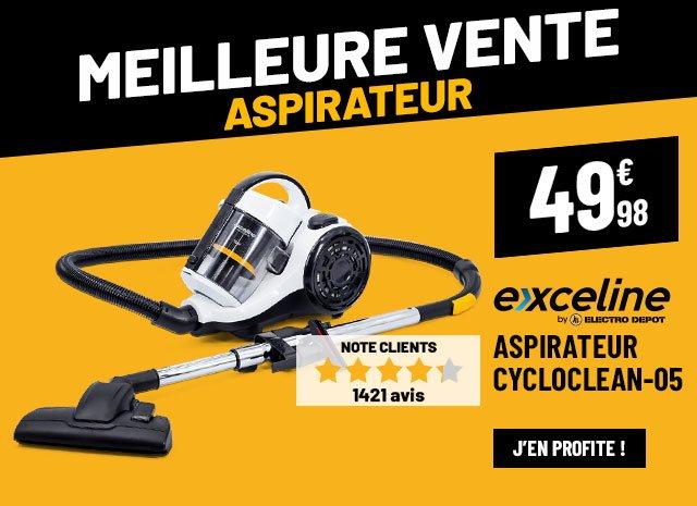 Aspirateur sans sac EXCELINE CYCLOCLEAN-05