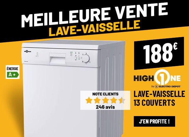 Lave-vaisselle 13 couverts HIGH ONE 13S47 A+ W205T
