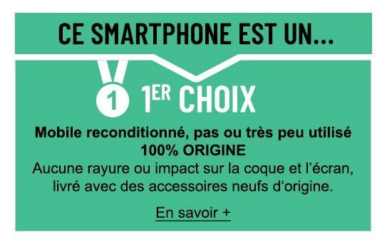 Smartphone reconditionné grade premier choix