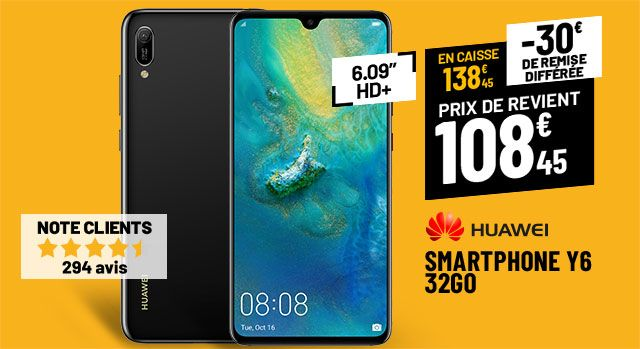 SMARTPHONE HUAWEI Y6 2019 32 GO NOIR
