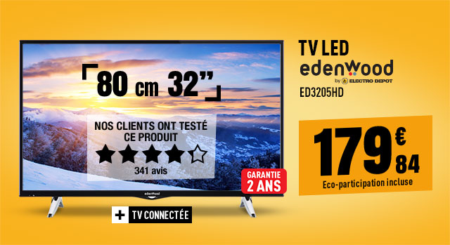 TV LED EDENWOOD ED3205HD CONNECTE