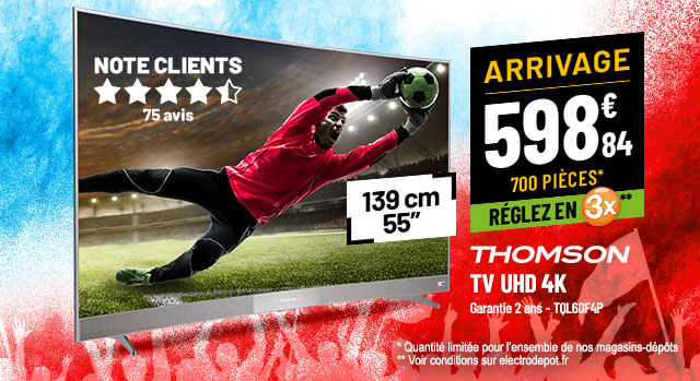 TV UHD 4K THOMSON 55UC6006S