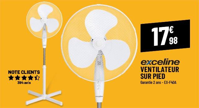 Ventilateur sur pied EXCELINE EX-F40A