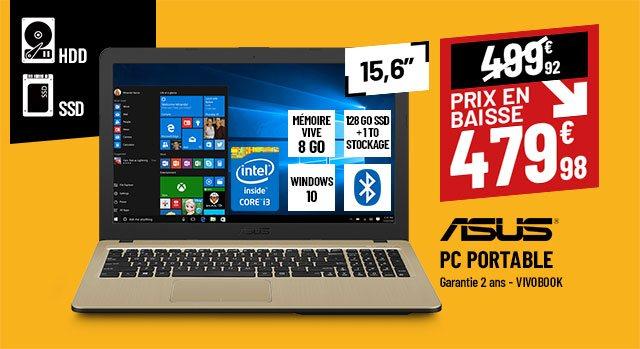 Ordinateur portable 15,6'' ASUS VivoBook 15 R540LA-XX1124T noir