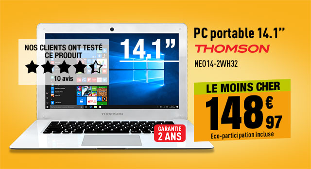 Ordinateur portable 14,1'' THOMSON NEO14-2WH32 Blanc