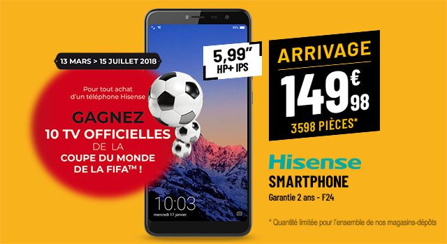 Smartphone  HISENSE F24 noir