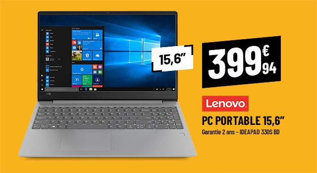 Ordinateur portable 15,6'' LENOVO Ideapad 330S BD