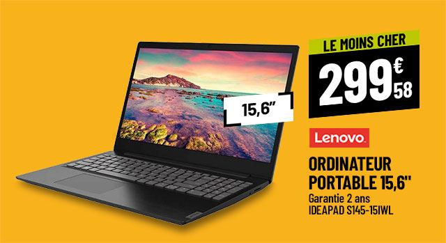 Ordinateur portable 15,6'' LENOVO Ideapad S145-15IWL