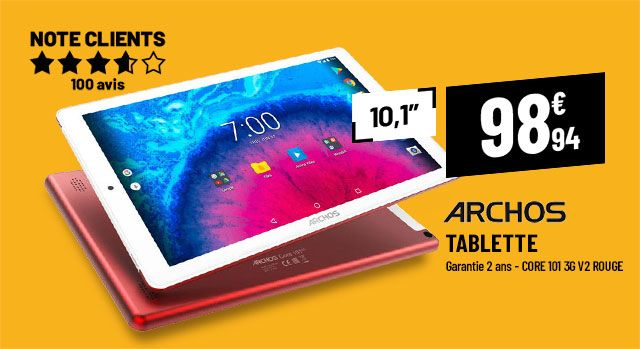 Tablette 10,1'' ARCHOS CORE 101 3G V2 rouge