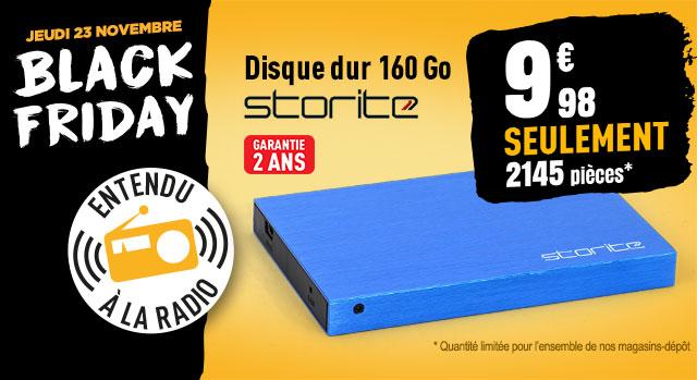 Disque dur externe 2,5'' STORITE 160 Go bleu Black Friday (Offre limitée à 1 par foyer)