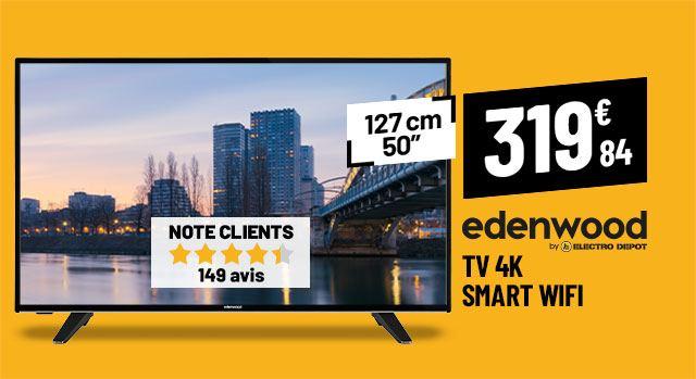 TV 4K EDENWOOD ED50A00UHD-VE Smart Wifi