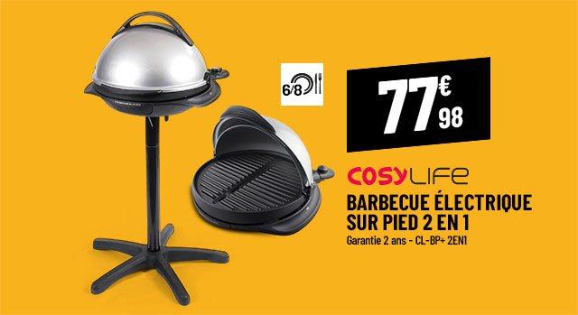 Barbecue sur pied électrique COSYLIFE CL-BP+ 2en1