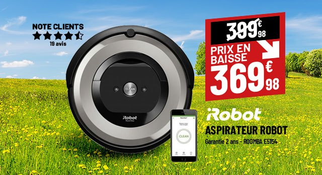 Aspirateur robot connecté IROBOT Roomba E5154