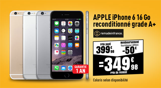 APPLE iPhone 6 reconditionné grade A+ REMADEINFRANCE 16go